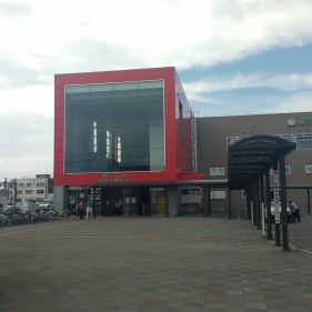 I stopped by the Higashi-Muroran train station on the way back to campus to see if I could find any good souvenirs.