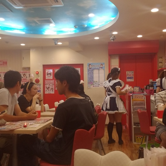 Went to a maid cafe cause a friend told me to. Honestly I don't really get it.