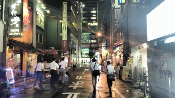 I wanted Akihabara to look totally cyberpunk, and fortunately it did.