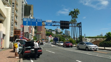 One of the major streets in Atami that runs parallel to the beach.