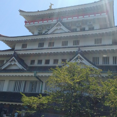 I took the bus to Atami castle, which isn't a real castle.