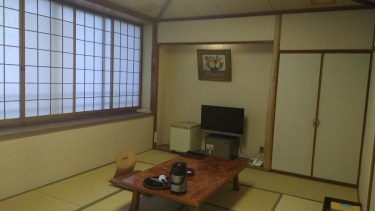 It was a traditional place, with tatami floors, futon, the works.