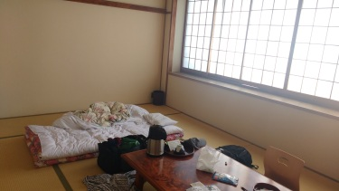 I didn't care for the futon in Atami, but this place was nicer and I slept wonderfully.