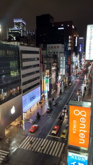 My hotel was in the posh neighborhood of Ginza.