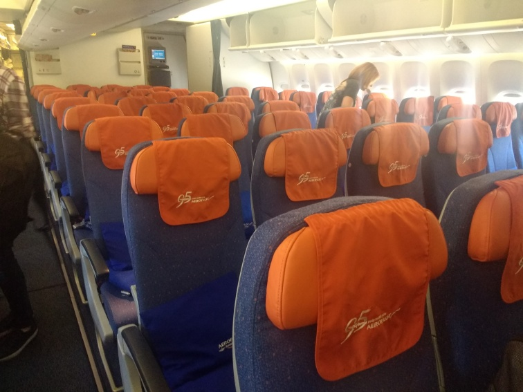 The Russian airline has a weird color scheme.