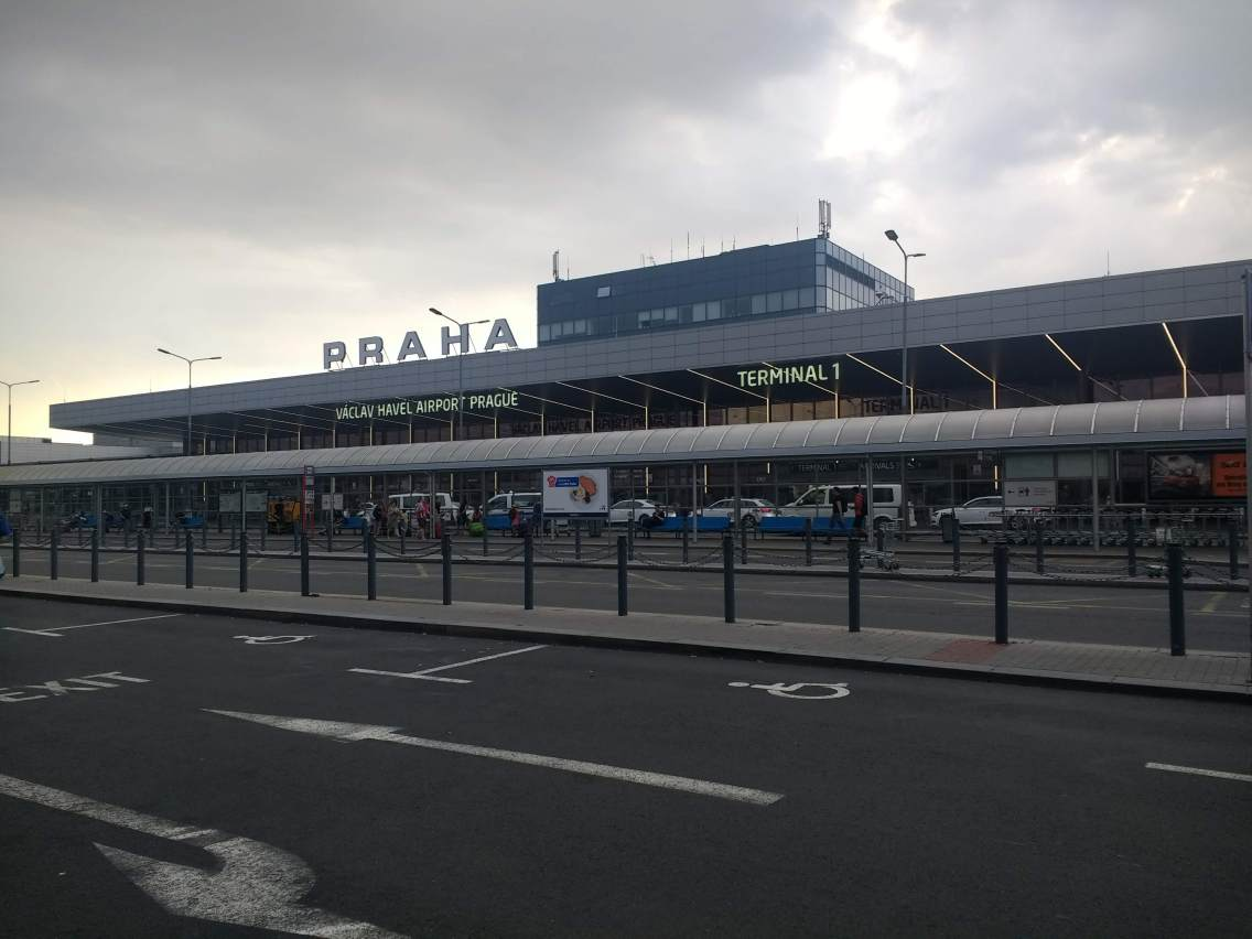 The airport in Prague.
