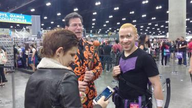 Meeting David S. Pumpkins. #2spooky4me