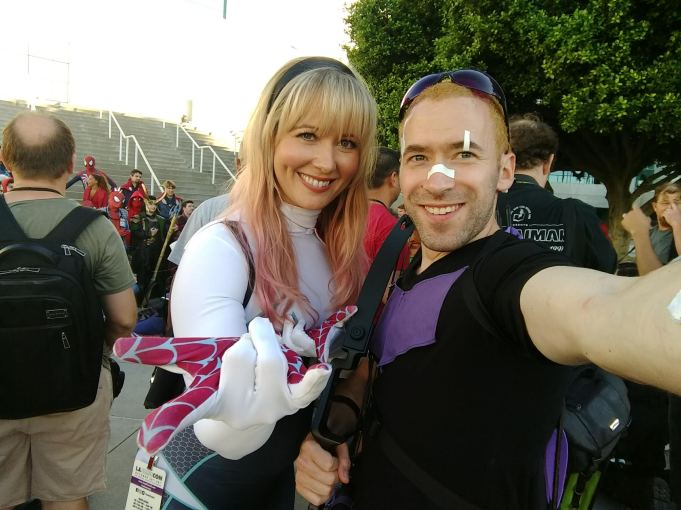 This woman is a friend of mine. I was excited to run into her, and to see her awesome SpiderGwen cosplay.