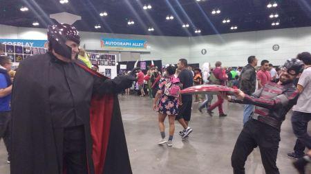 Magneto grabbing the shield
