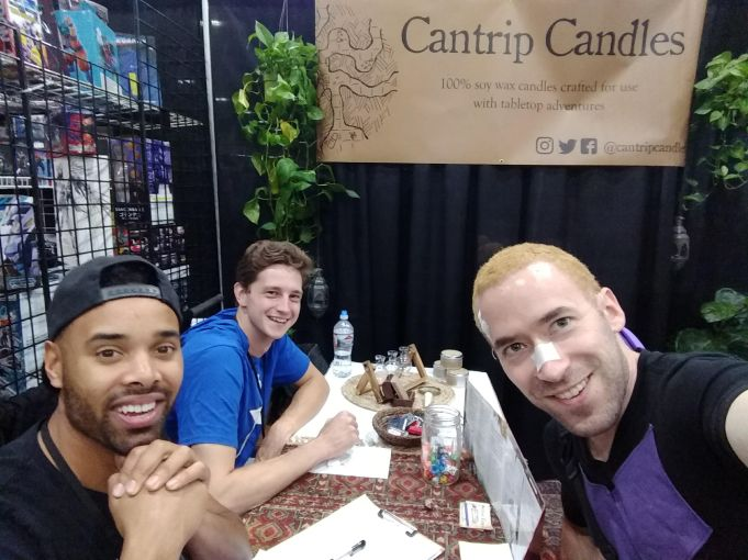 This is a friend of mine. He sells scented candles for tabletop RPGs!